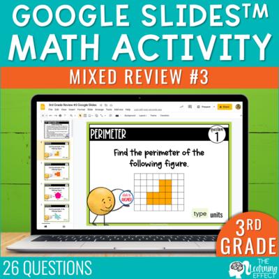 3rd Grade Math Review #3 Google Slides End of Year | Digital Math Activity