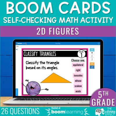 2D Figures Boom Cards 5th Grade   Digital Math Activity