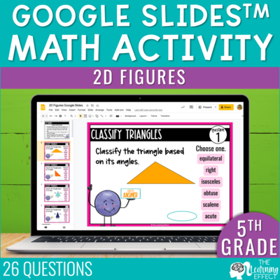 2D Figures Google Slides 5th Grade | Digital Math Activity