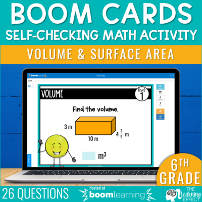 Volume and Surface Area Boom Cards | 6th Grade Digital Math Activity