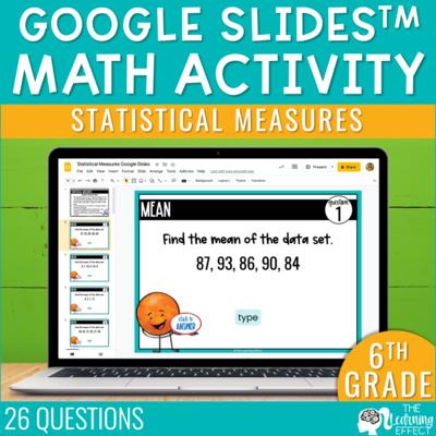 Statistical Measures Google Slides | 6th Grade Digital Math Activity