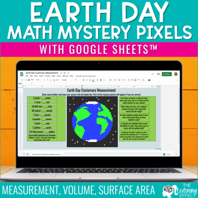 Earth Day Math Mystery Pixel Art Google Sheets | Digital Math Activity