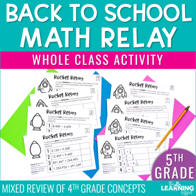 Back to School Math Game for 5th Grade | Fractions Multiplication Division