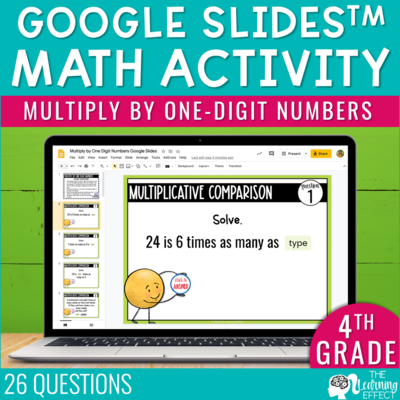 Multiply with One-Digit Numbers Google Slides   4th Grade Digital Math Activity