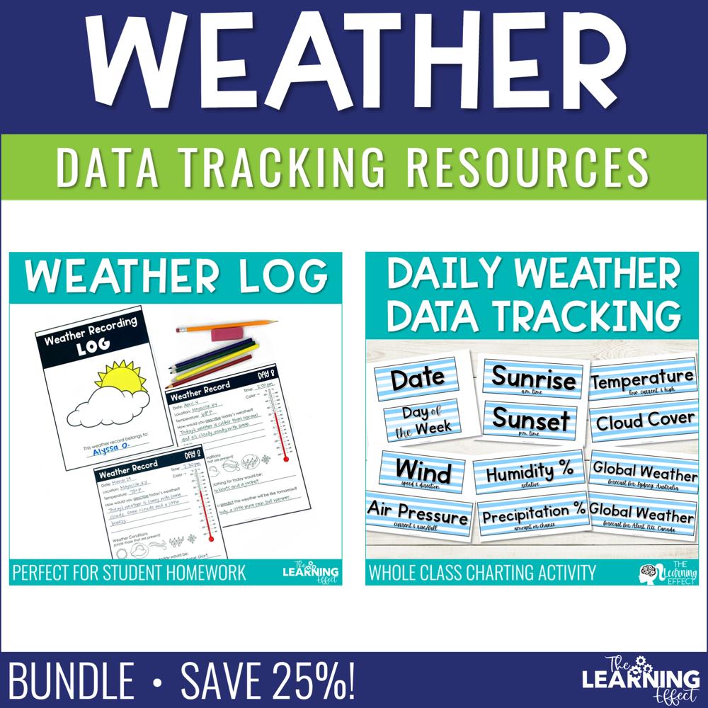 Weather Recording Resources BUNDLE