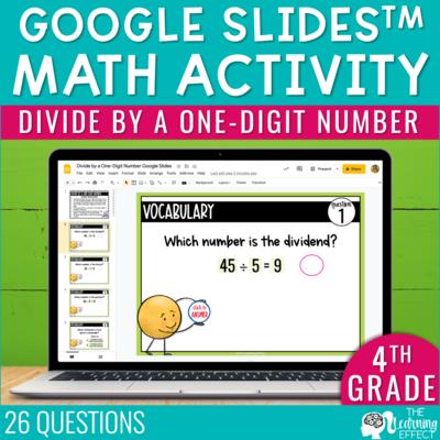 Divide by a One-Digit Number Google Slides   4th Grade Digital Math