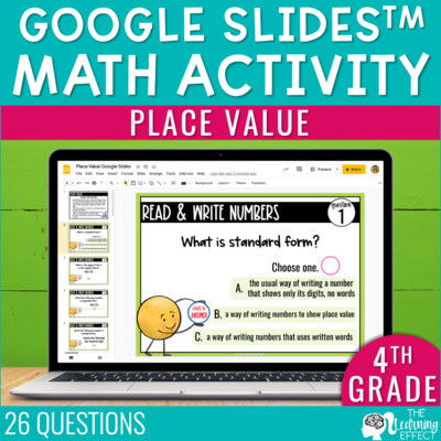 Place Value Google Slides | 4th Grade Digital Math Activity