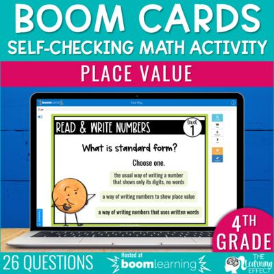 Place Value Boom Cards | 4th Grade Digital Math Activity