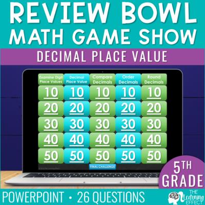 Decimal Place Value Game Show | 5th Grade Math