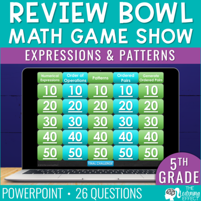Expressions and Patterns Game Show | 5th Grade Math