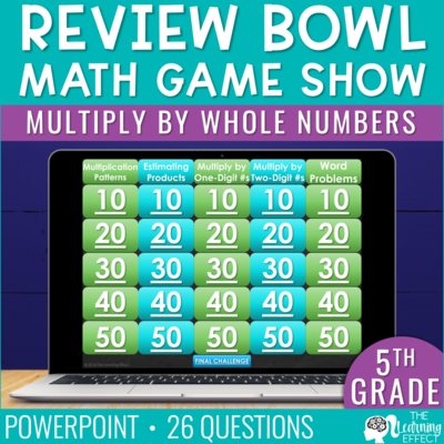 Multiply by Whole Numbers Game Show | 5th Grade Math