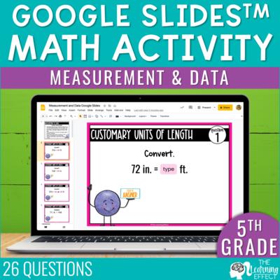 Measurement and Data Google Slides | 5th Grade Digital Math Activity