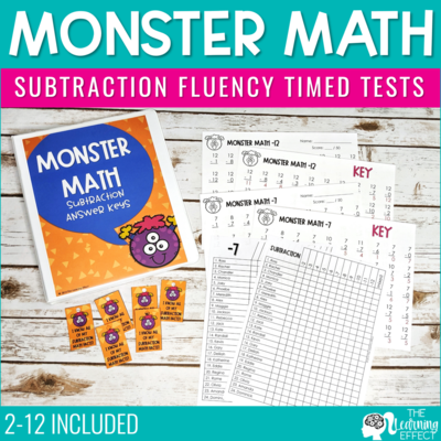 Subtraction Timed Tests | Fact Fluency