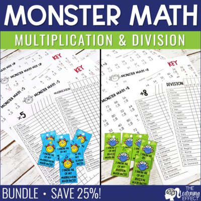Fact Fluency Multiplication and Division Timed Tests BUNDLE
