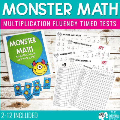 Multiplication Timed Tests | Fact Fluency