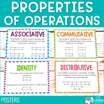 Properties of Operations Posters