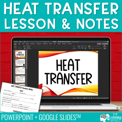 Heat Transfer Lesson and Notes | PowerPoint and Google Slides