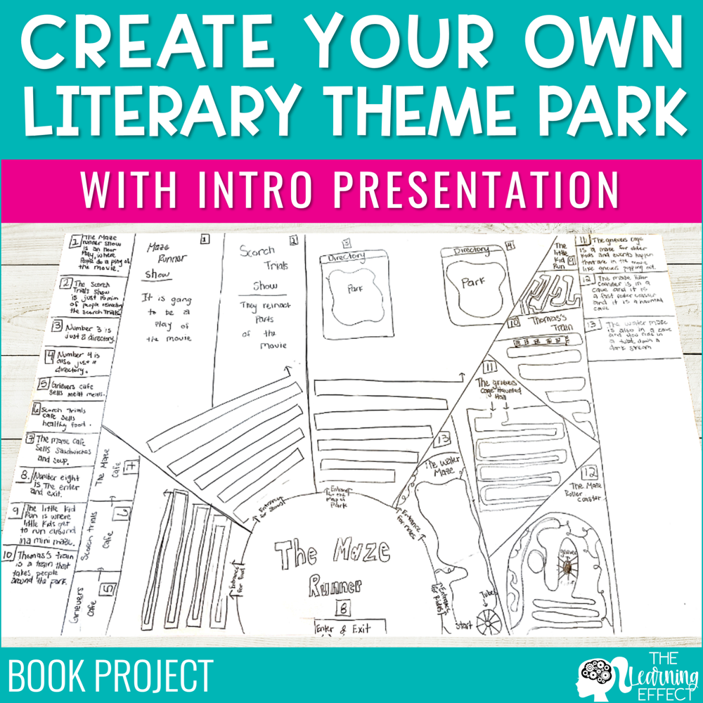 Create Your Own Literary Theme Park Book Project