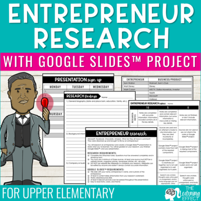 Entrepreneur Research Project with Google Slides Presentation