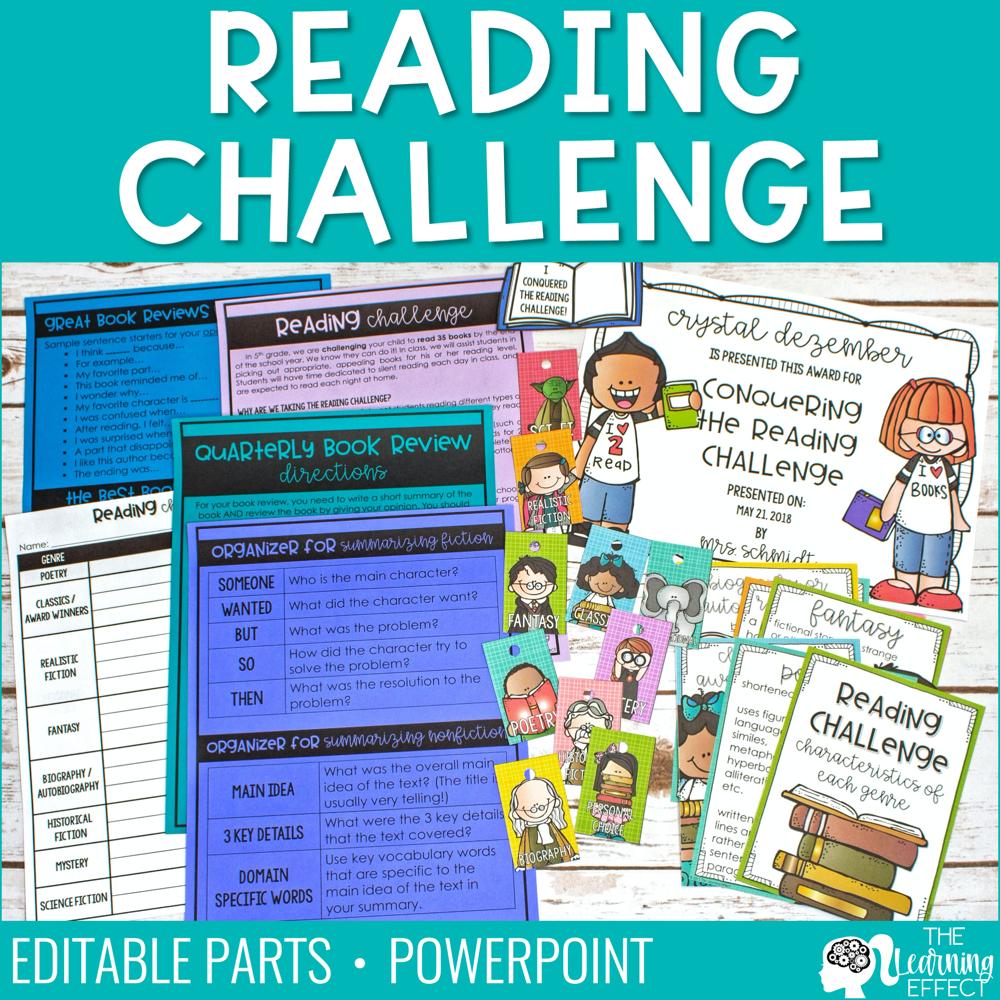 Reading Challenge   Posters Genre Log Incentives