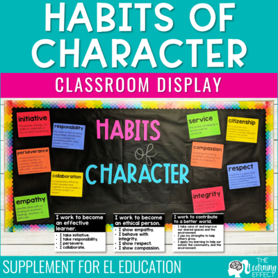 Habits of Character Classroom Display