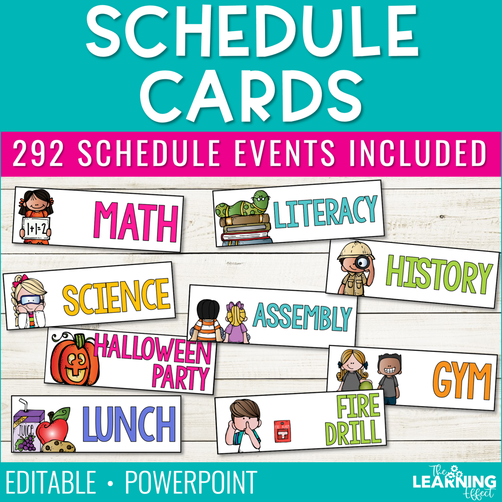 Visual Schedule Cards | Editable