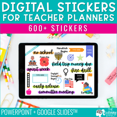 Digital Stickers for Teacher Planners
