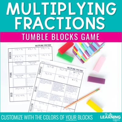 Multiplying Fractions Game | Tumble Blocks Game