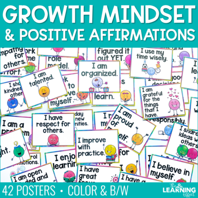 Growth Mindset Posters | Positive Affirmations
