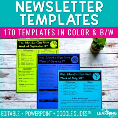 Newsletter Templates Editable | Print and Digital
