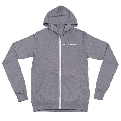 Eagle Back light zip hoodie