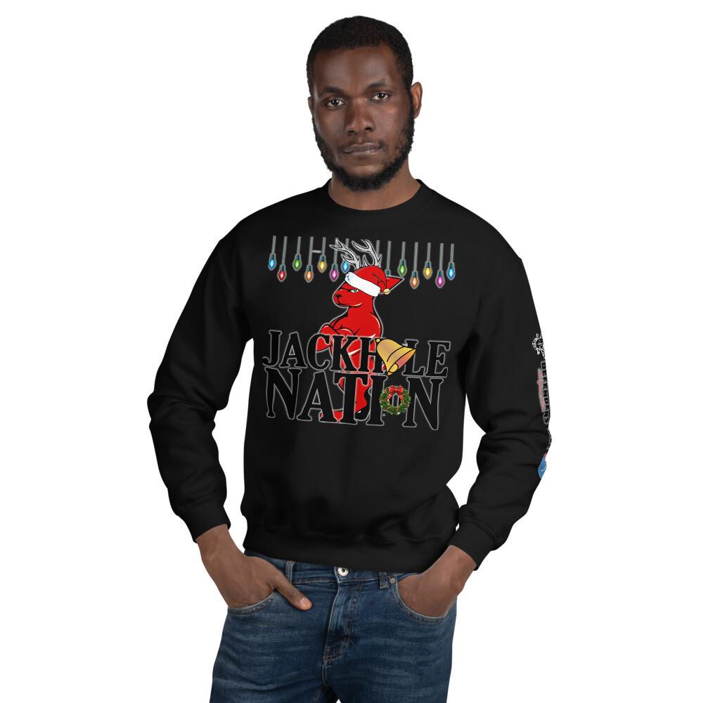 Jackhole Ugly Christmas Sweatshirt