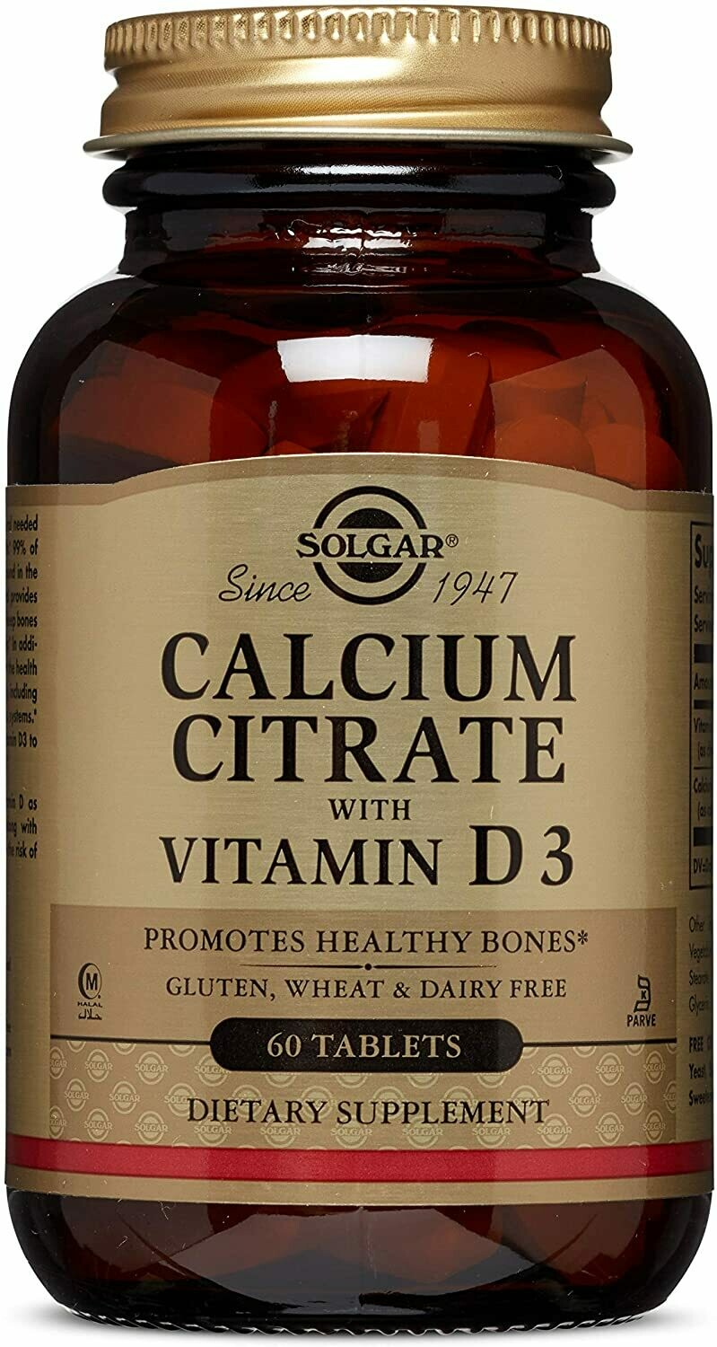 Calcium Citrate with Vitamin D3 Tablets