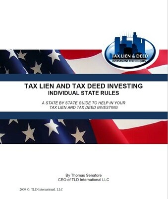 Tax Lien and Tax Deed Investing - Individual State Rules