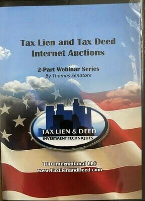 Tax lien and Tax Deed Internet Auctions a 2 Part Webinar Series