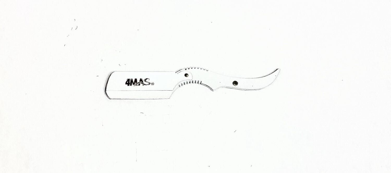 4MAS White Rat Tail Razor Holder