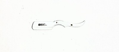 4MAS White Rat Tail Razor Holder