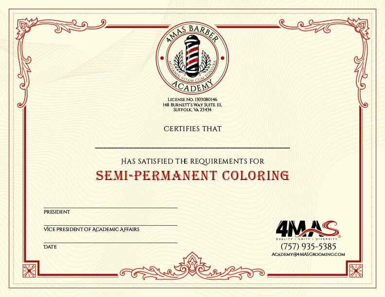 Semi-Permanent Coloring (Online)