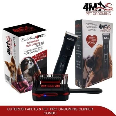 4MAS CutBrush 4Pets and Pet Pro Groomer Combo