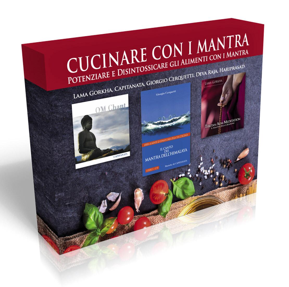Cucinare con i Mantra - Cofanetto  Potenziare e disintossicare gli alimenti con i mantra