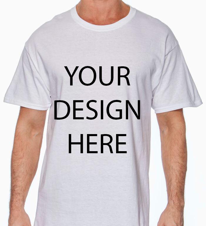 Gildan Men's White Heavy Cotton 5.3oz Tshirt with your Custom Design