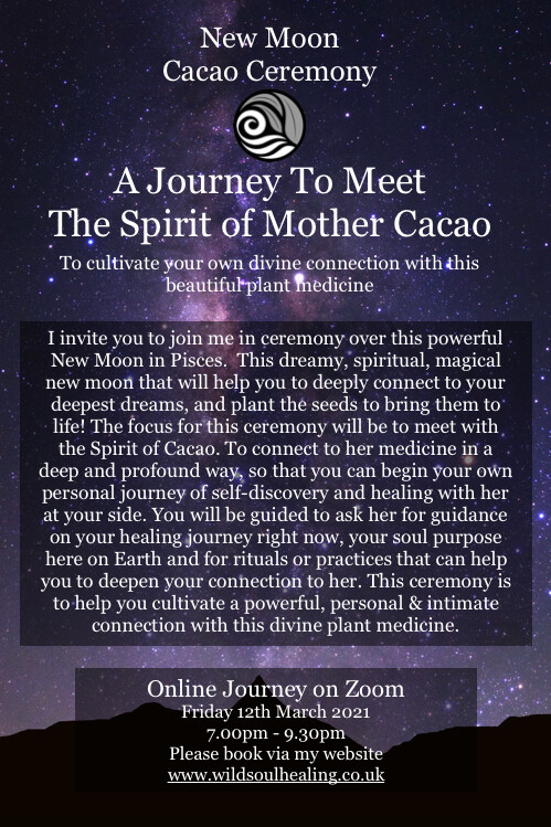 New Moon Cacao Ceremony - A Journey To Meet The Spirit of Mother Cacao