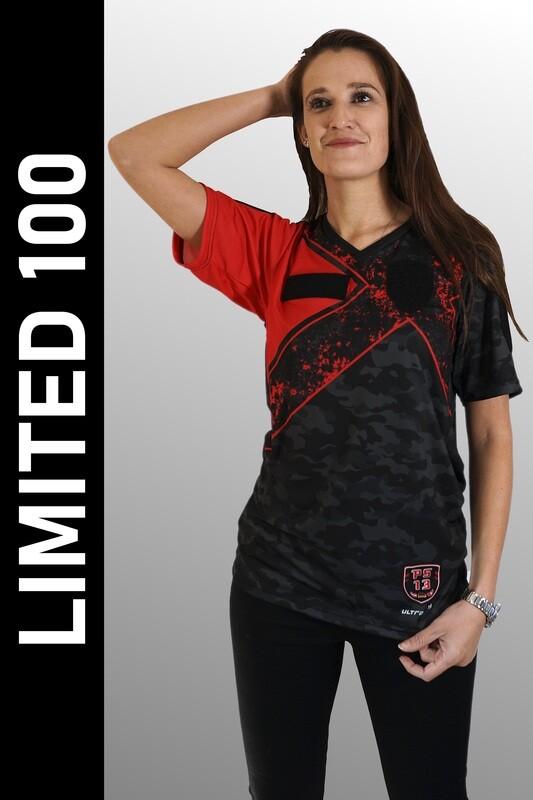 E Sport Shirt Rot Grösse XXL