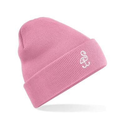 SANDHAFEN Beanie Dusky Pink Logo