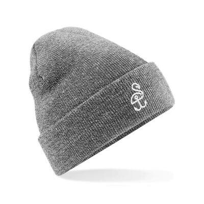 SANDHAFEN Beanie Heather Grey Logo