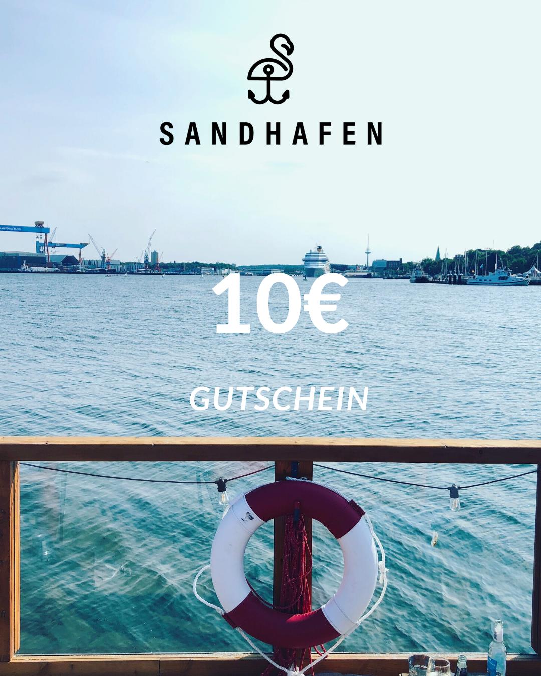 SANDHAFEN 10€-GUTSCHEIN