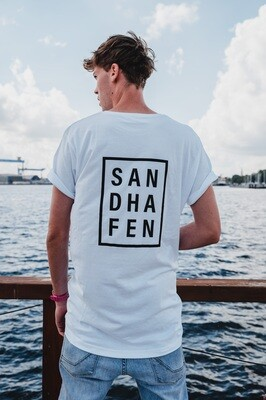 SANDHAFEN T-Shirt long (weiß+schwarz)