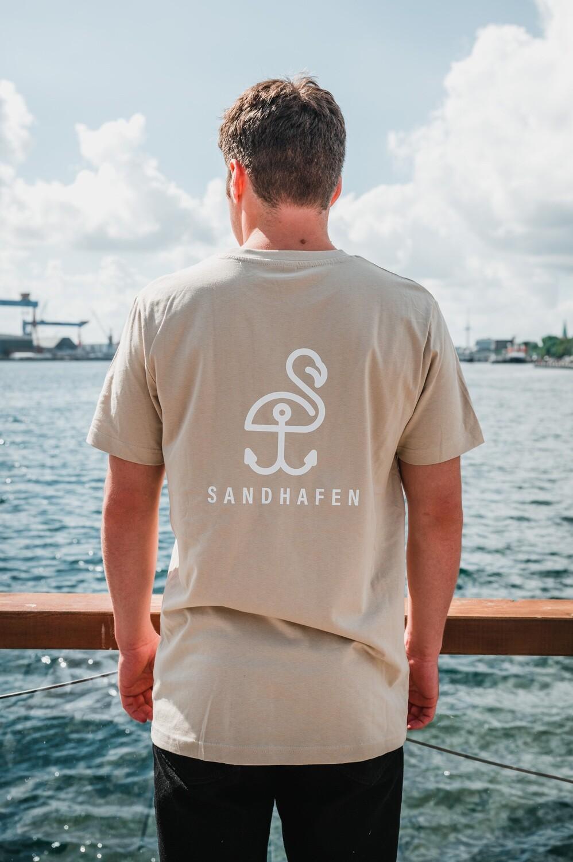 SANDHAFEN T-Shirt classic (sand+weiß)