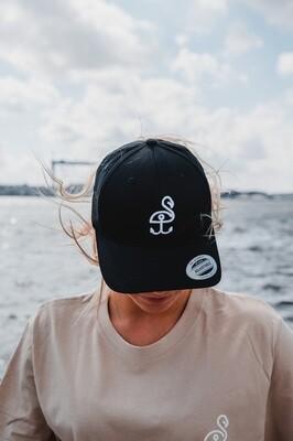 SANDHAFEN Snapback Curved Cap Black