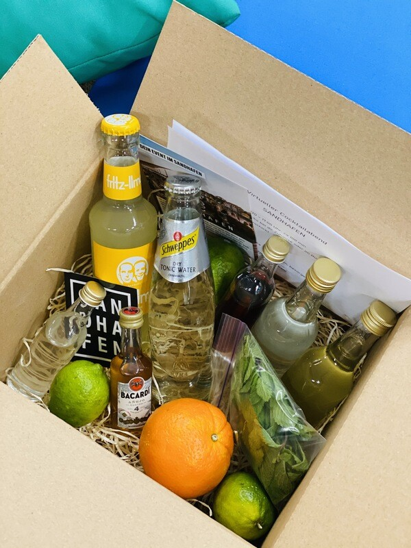 Eine Nacht Kiel - Sei dein eigener Barkeeper mit dem SANDHAFEN Drinkpaket mit Zutaten für 3 leckere Drinks inkl. Anleitung